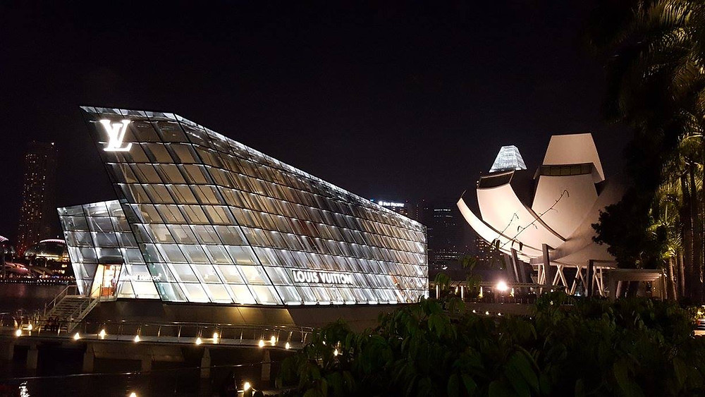 Marina Bay Sands en Singapur, Asia.