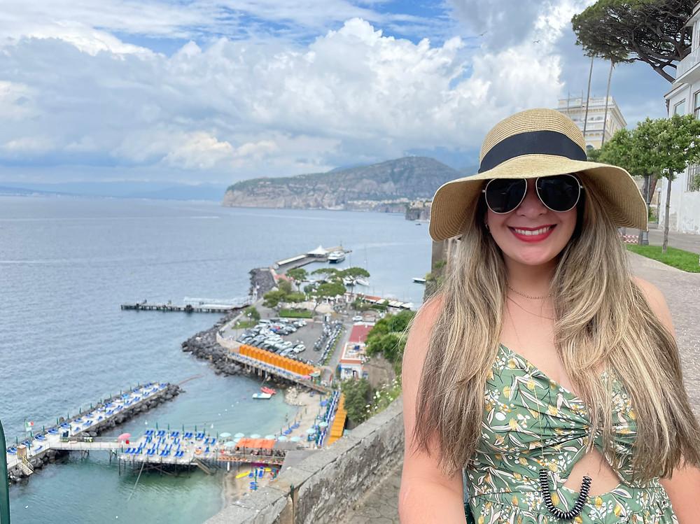 Explorando la ciudad de Sorrento en Italia.