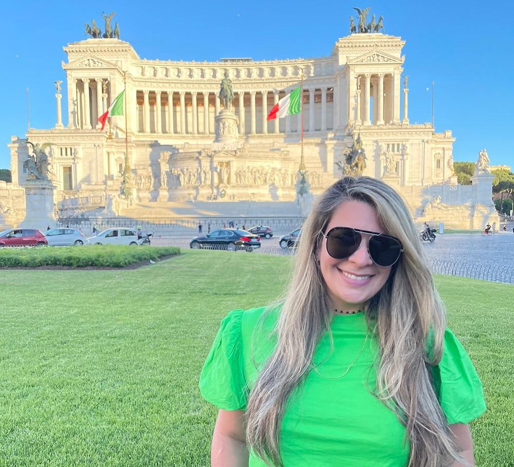 Piazza Venezia en Roma, Italia.