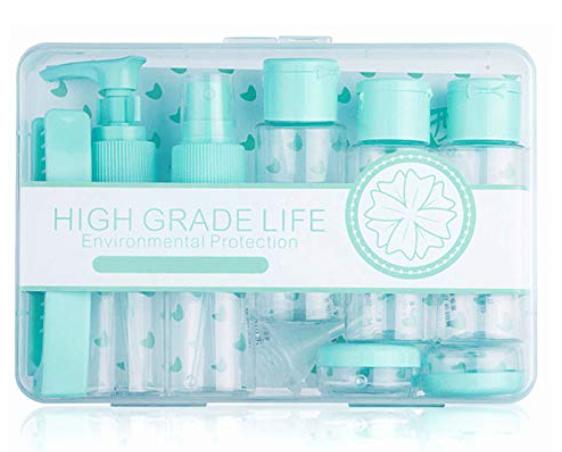 Kit de contenedores para tus viajes