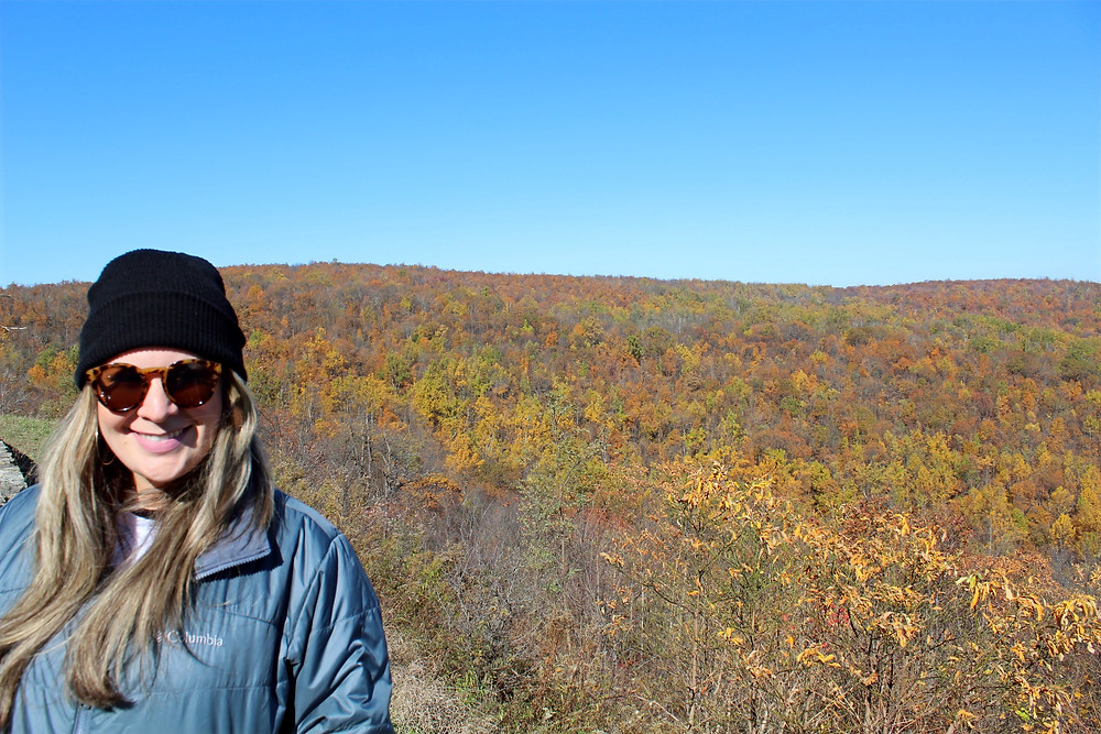 Visitando el Shenandoah National Park en Virginia durante el otoño.