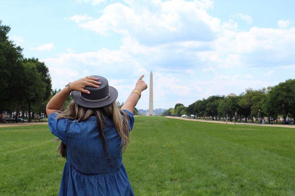 Monumento de Washington, D.C. en el National Mall en D.C.
