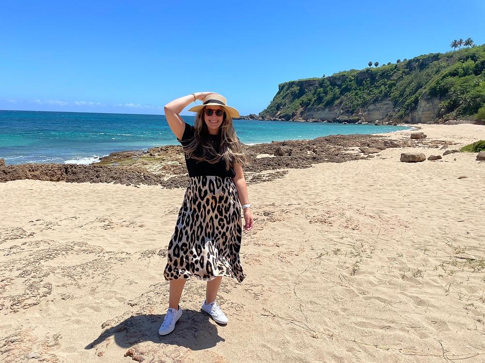 Visita a la playa de Punta Borinquen en Aguadilla, Puerto Rico.
