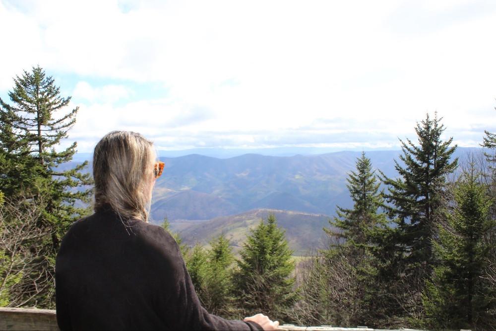 Spruce Knob y sus hermosas montañas Allegheny en West Virginia.
