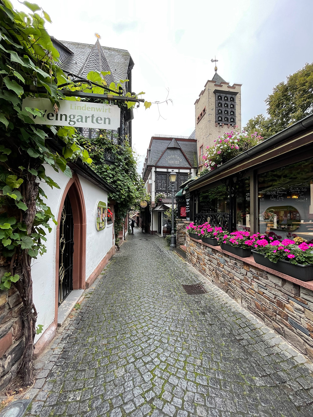 Rüdesheim y su calle más antigua, Drosselgasse.