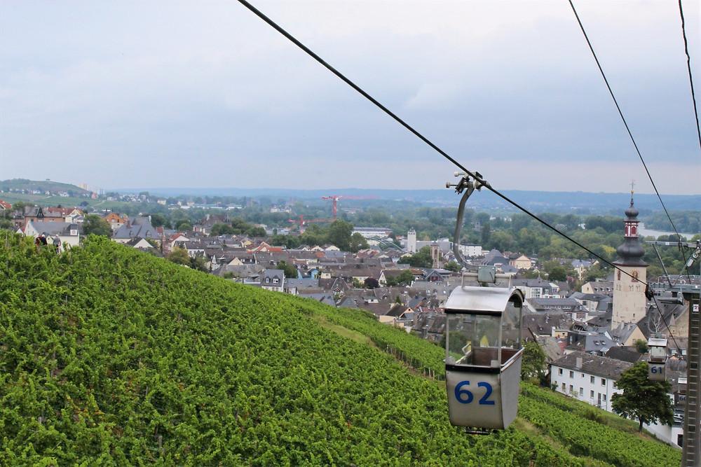 Teleférico de Rüdesheim en Alemania.