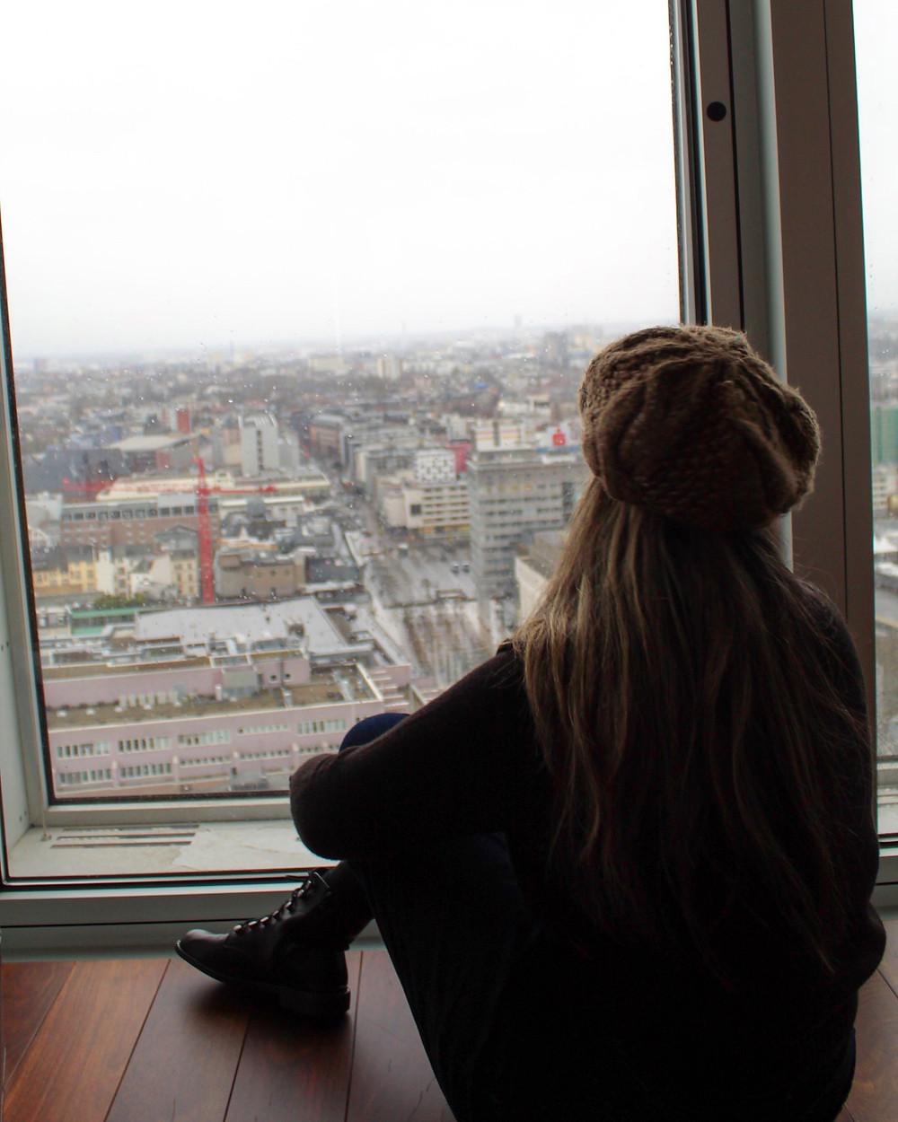 Vista de Alemania desde el hotel.