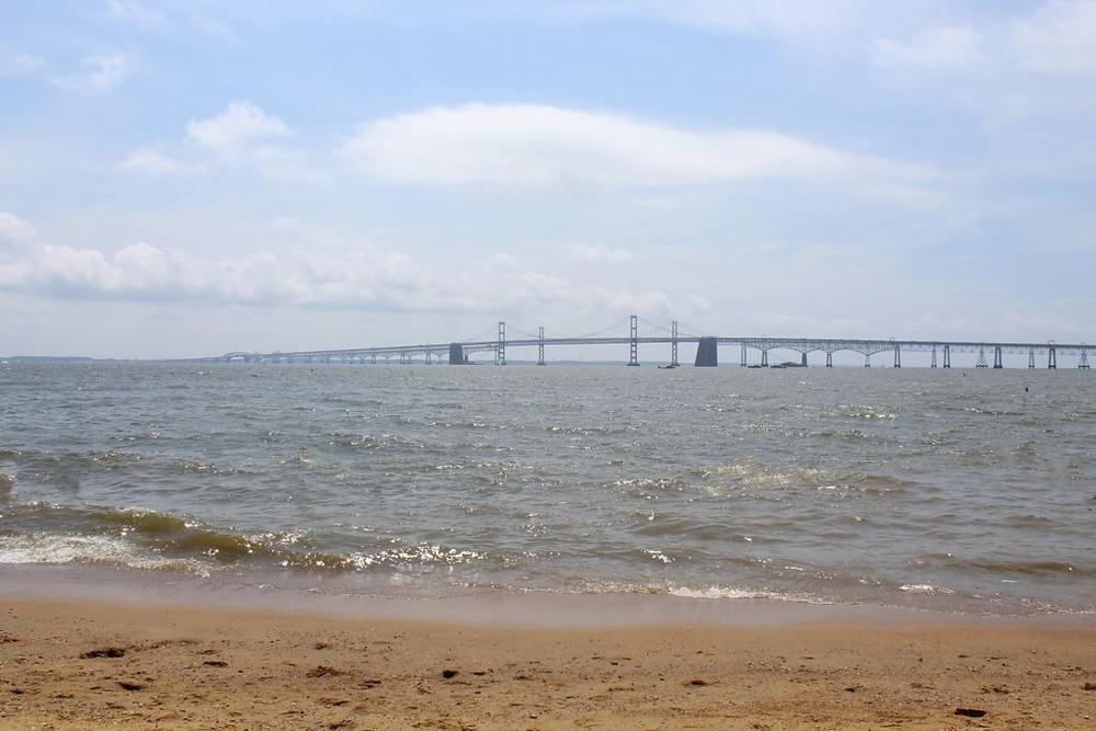 Vista a la Bahía de Chesapeake desde Maryland.