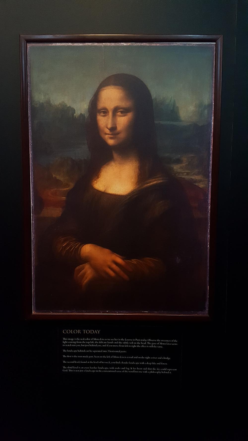 Mona Lisa hoy dia, deteriorada