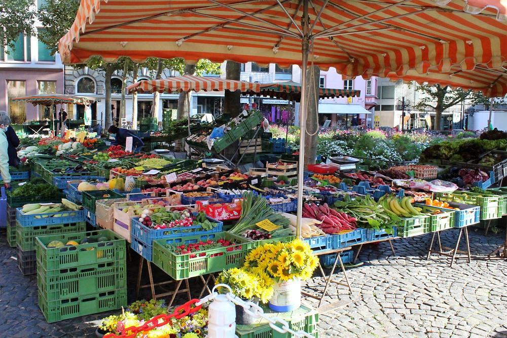 Marktplatz en Mainz, Alemania.