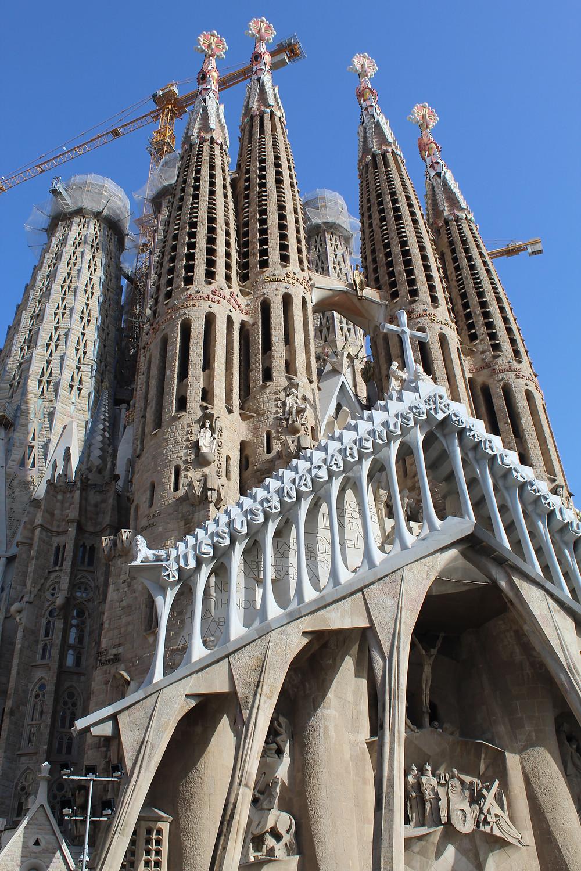 La Basílica Sagrada Familia en Barcelona.