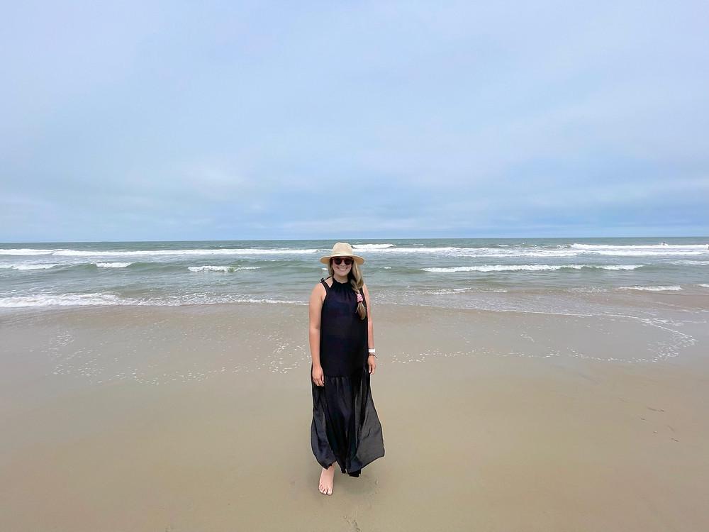 Explorando la playa de Sandbridge Beach en Virginia.