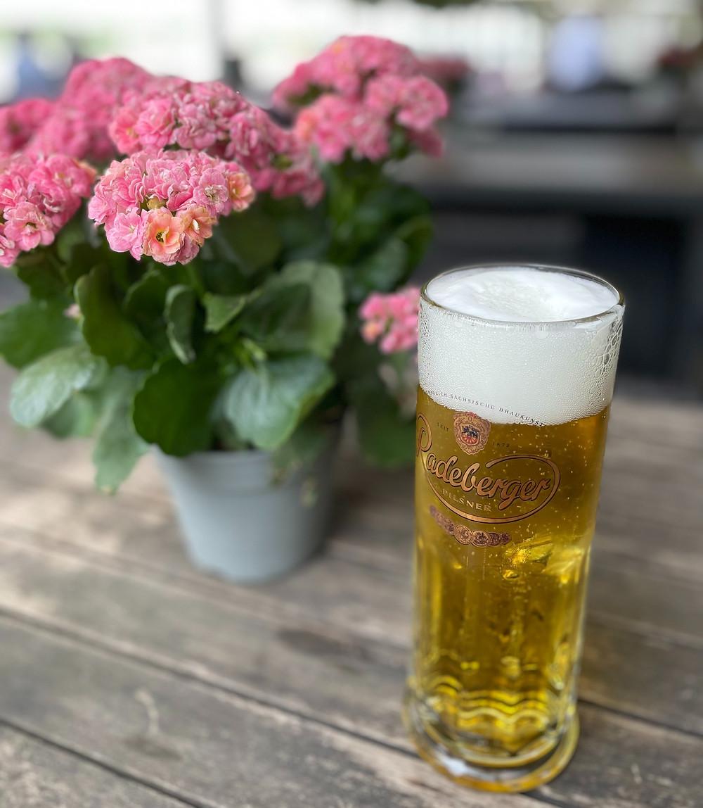 Cerveza local en Alemania.