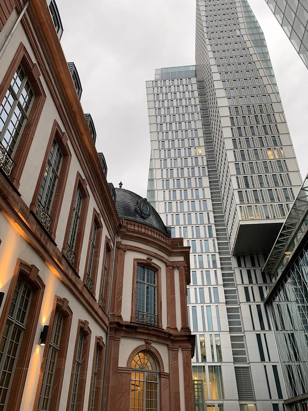 El Distrito Financiero en Frankfurt, Alemania.