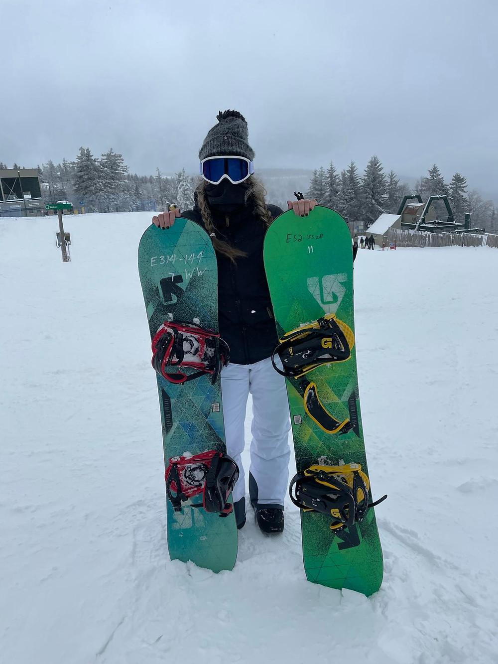 Snowboarding en Snowshoe, West Virginia