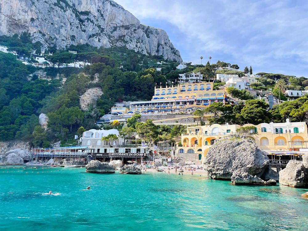 Isla de Capri en Italia.