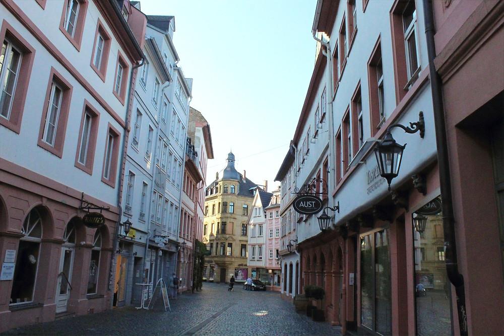 Ciudad de Maguncia en Alemania.