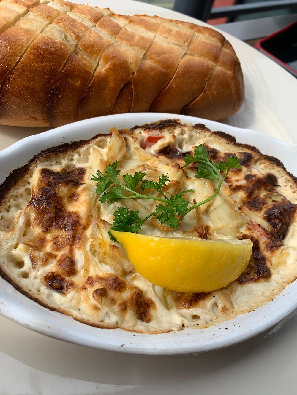 Delicioso apertivo en Carol's Creek Café en Annapolis, M.D.