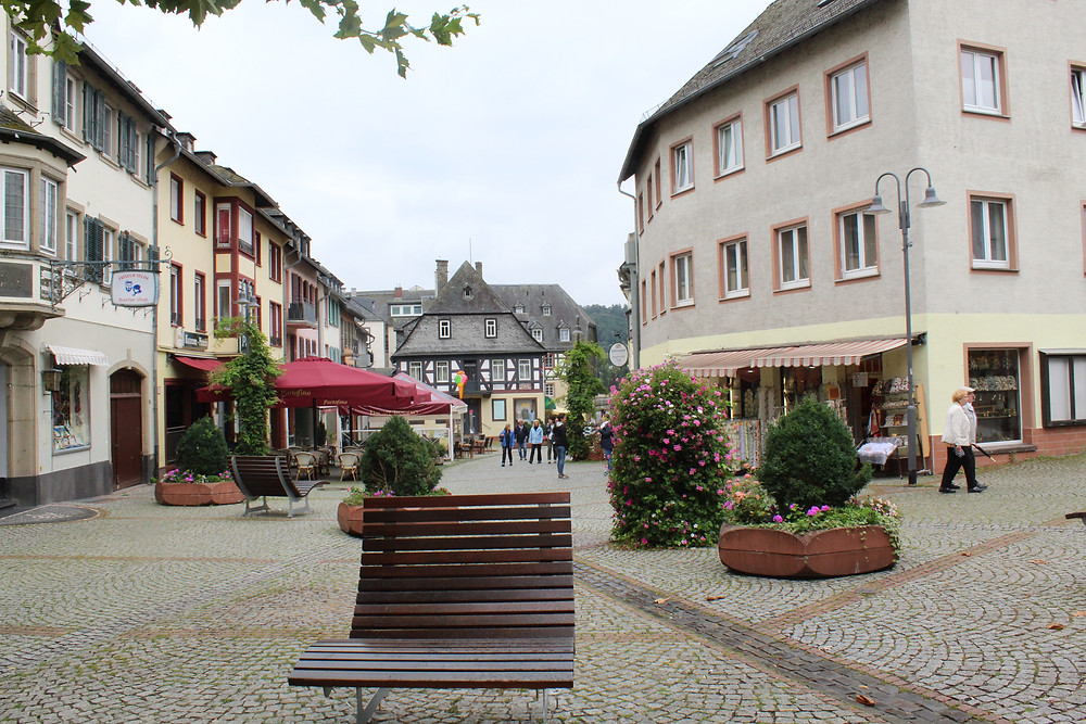 Zona comercial de Rüdesheim en Alemania.