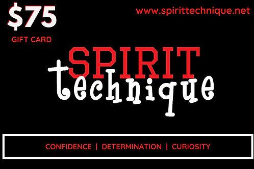 Black Friday: $75 Spirit Technique Giftcard