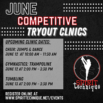 (04) June 2021Competitive Tryout Clinics
