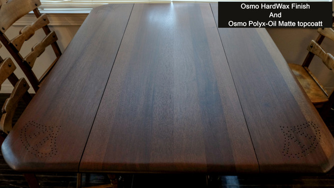 Table After Osmo WoodWax Finish and Polyx-Oil Matte