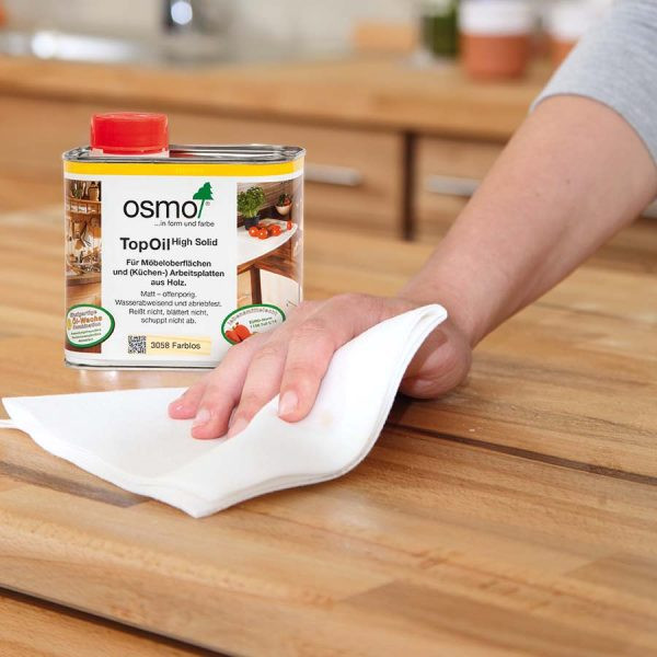TopOil on a butcher block counter