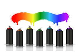 black-metallic-cans-of-spray-paint-in-va