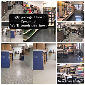 Come in and ask us about epoxy floor coatings. We have several great options!