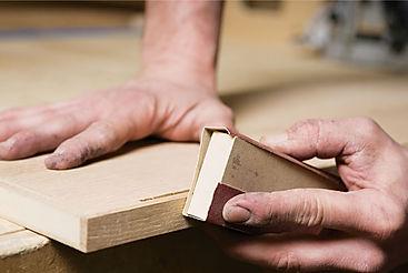 interior wood finishing, wood surface prep