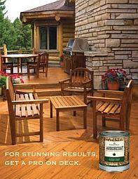 We carry Benjamin Moore's premium Arborcoat stains
