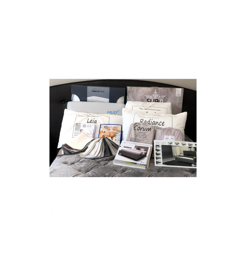 Did you know we sell Mattress and pillow protectors, custom fabric head boards / full beds, metal head boards / beds, sheets, pillows, comfortors, and more?