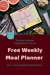 Free Weekly Meal Planner - Pinterest Pin