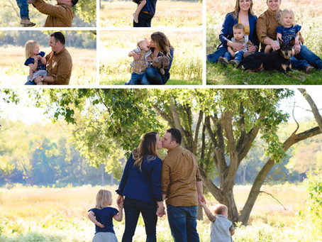 An early fall family session