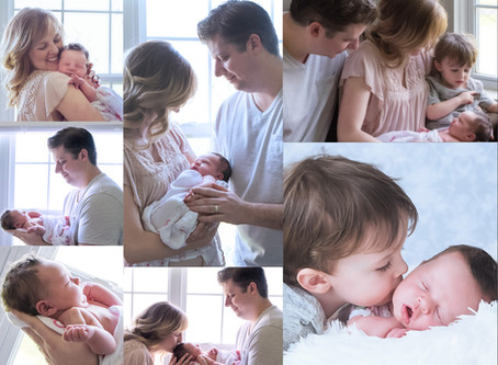 An in home lifestyle newborn session
