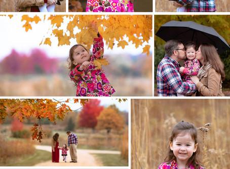 Sweet little family in the peak of fall