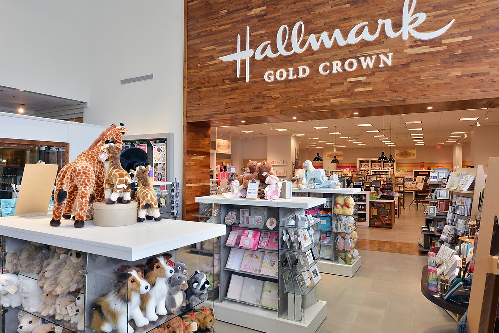 Inside a Hallmark Cards retail store