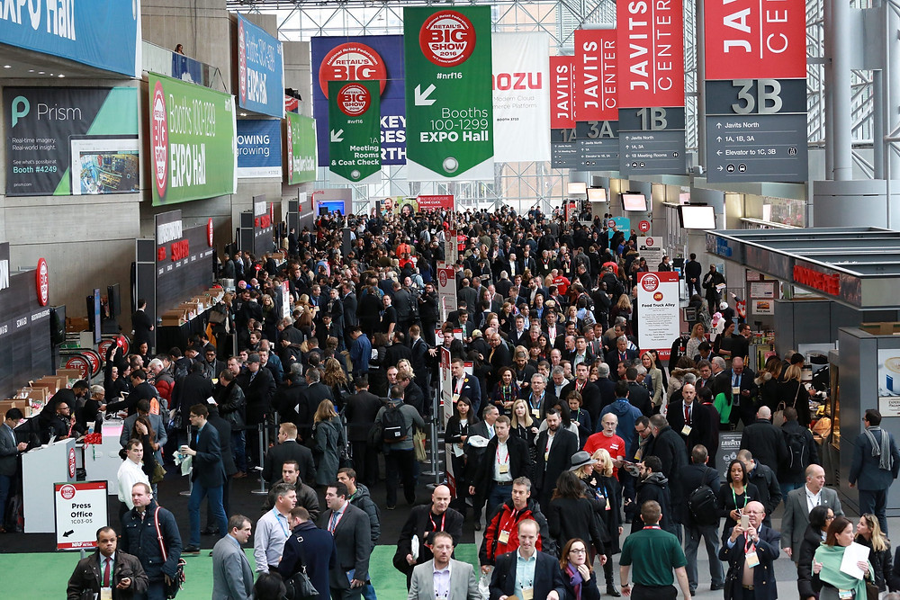 On the exhibit floor at the NRF's Big Show