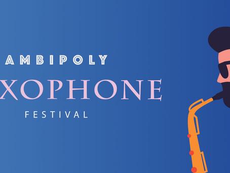 AMBIPOLYサクソフォンフェスティバル開催中🎷