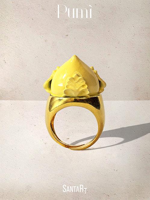 Anello Pumo giallo