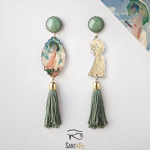Orecchini Donna con parasole di Monet