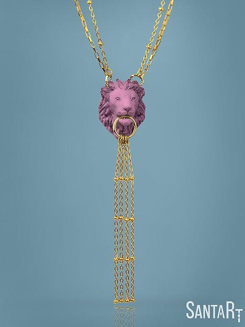 Collana Leone rosa