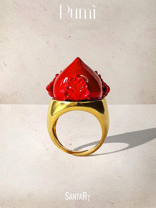 Anello Pumo rosso