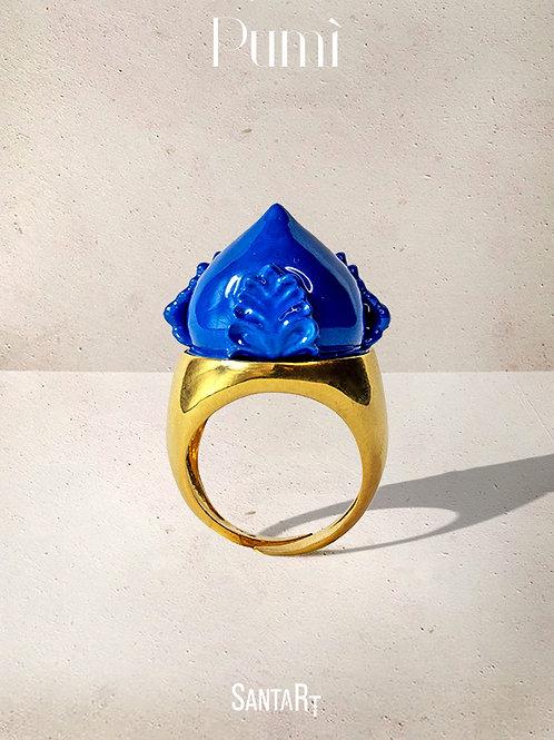 Anello Pumo blu