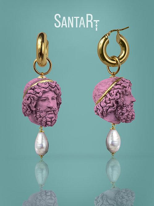 Orecchini Zeus rosa