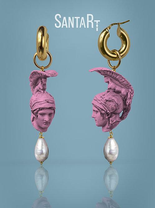 Orecchini Ares rosa