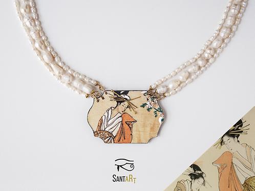 Collana di perle Geisha di Hiroshige