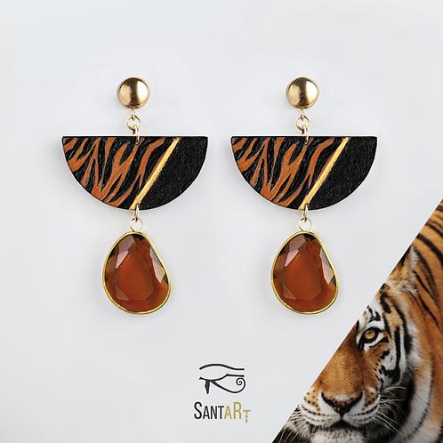 Orecchini animalier Tigre