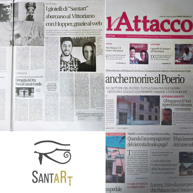 """I gioielli """"Santart"""" sbarcano al Vittoriano con Hopper, grazie al web"""