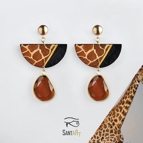Orecchini animalier Giraffa